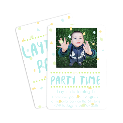 Picture of It's Party Time Notecard