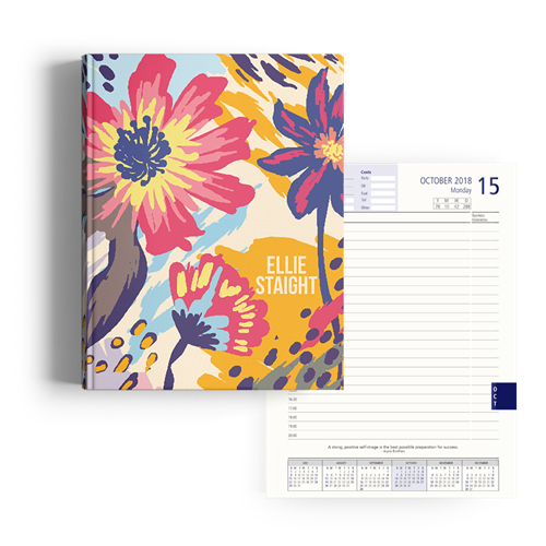 Picture of Flower Splat Diary A4