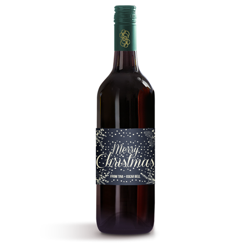 Picture of Merry Christmas Wine Label