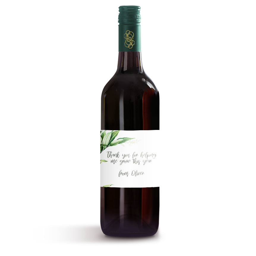 Picture of Thank You For Helping Me Wine Label
