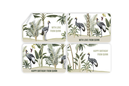 Picture of Crowned Crane Stickers