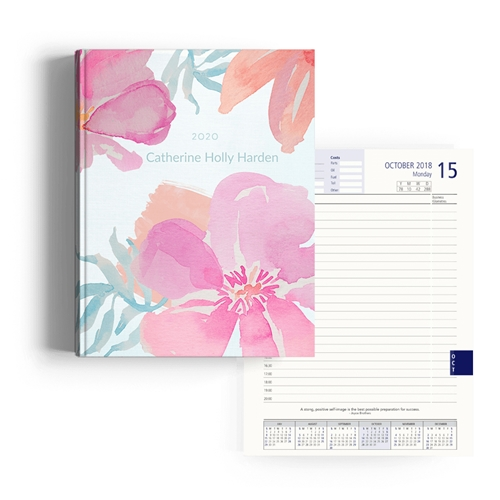 Picture of Floral Watercolor Diary A4