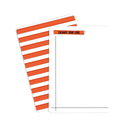 Picture of Orange Striped Notecard