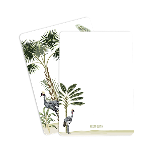 Picture of Crowned Crane Notecard