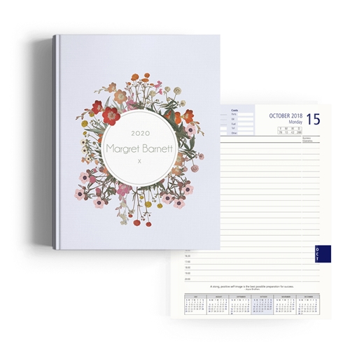 Picture of Vintage Flowers Diary A4