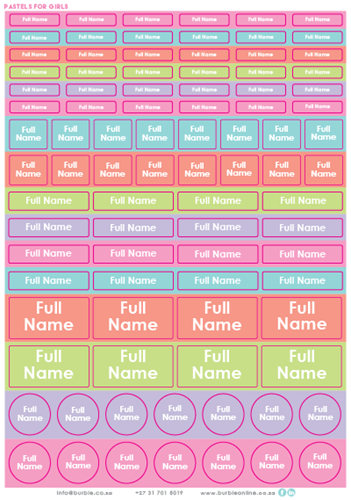 Picture of Pastels for Girls Multi-Purpose Stickers