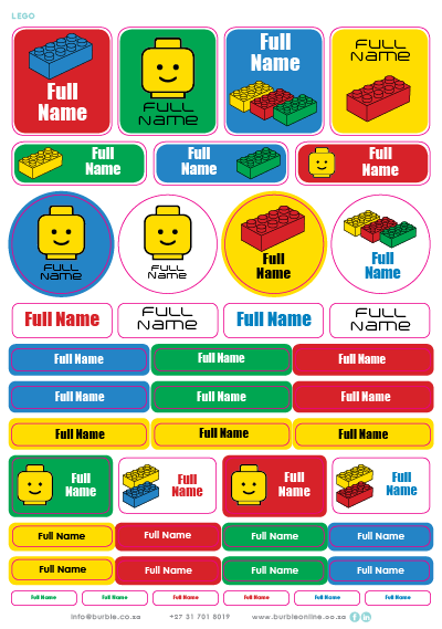 Picture of Lego Land Multi-Purpose Stickers