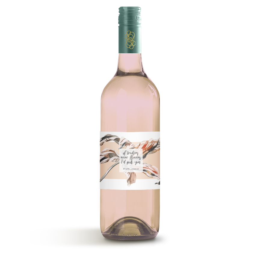 Picture of If Teachers Were Flowers Wine Label