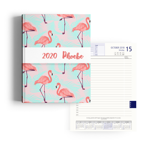 Picture of Bright Flamingo Diary A4