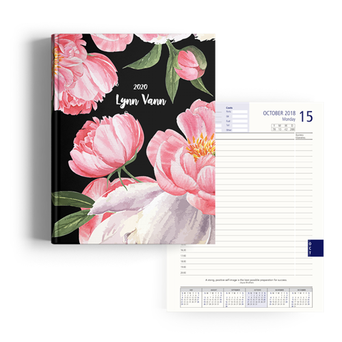 Picture of Black Peony Diary A4