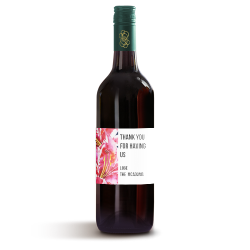 Picture of Hibiscus Wine Label