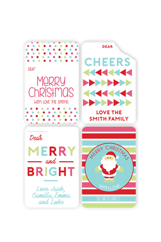 Picture of Merry and Bright Christmas Stickers