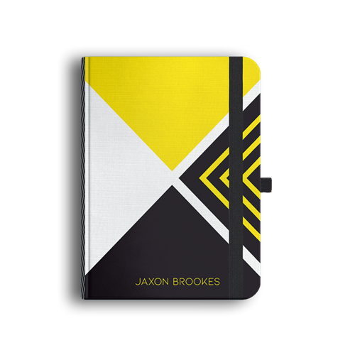 Picture of Black and Yellow Luxury Journal