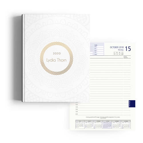 Picture of Gold Subtlety Diary A4