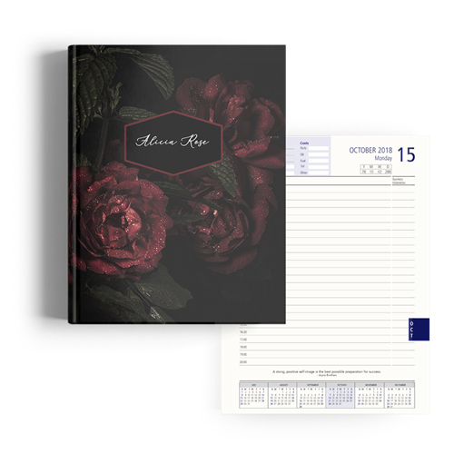 Picture of Rose Diary A4