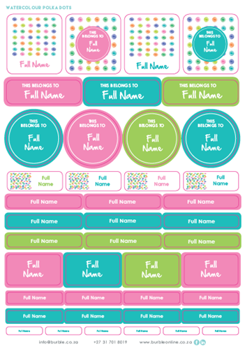 Picture of Girls Polka Dots Multi-Purpose Stickers